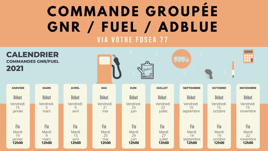 visuel commande groupée GNR fuel adblue